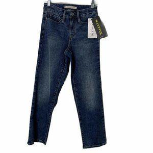 Athleta Blue Medium Wash Straight Leg Jeans Size 0